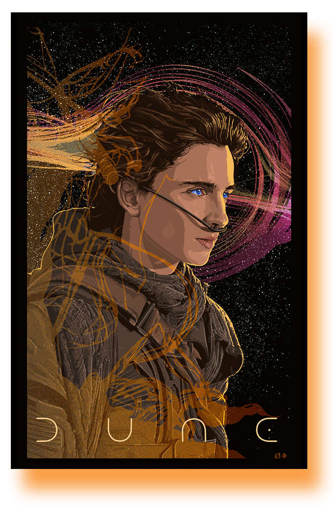 Dune Poster 2021 Movie Timothee Chalamet 6d 11 X 17 Usa Sameday Ship Concertposter Org
